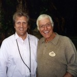 John Sawoski with Dick Van Dyke, before a concert