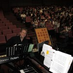 John Sawoski at the keyboard in Jinan, China.
