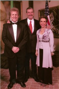 With former President of Mexico, Vicente Fox, after a performance in his honor.