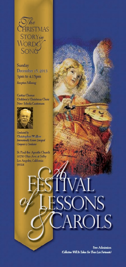 A Festival of Lessons & Carols December 15th