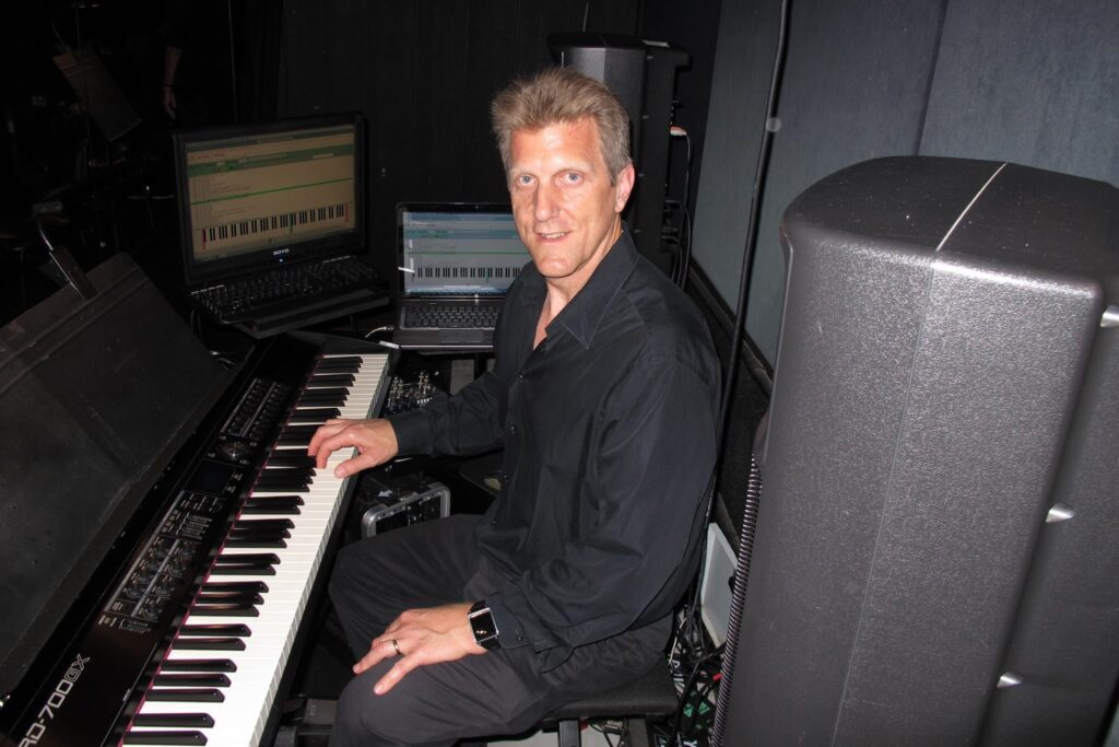 John Sawoski's Keyboard Rig for the Pageant of the Masters